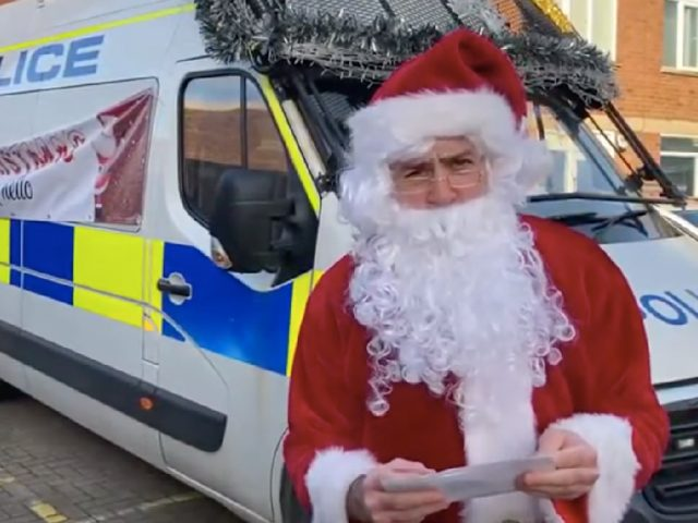Father Christmas visits Bedford with Bedfordshire Police