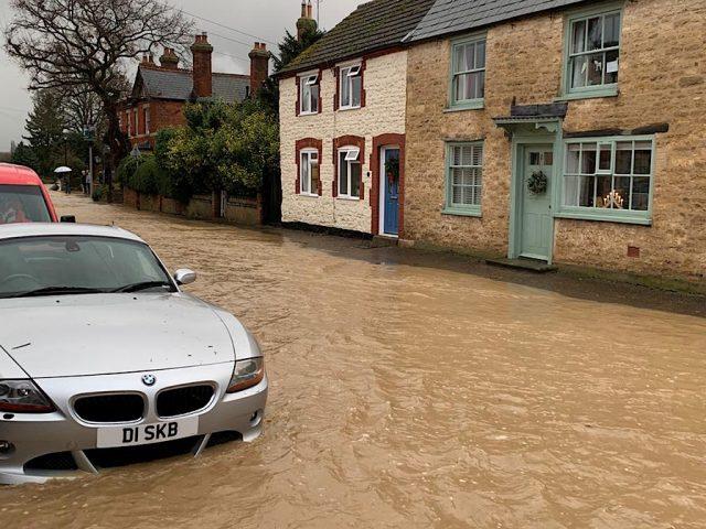 Carlton High Street (Bridgend), Christmas Floods 2020