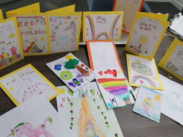 Pilgrims create cards for older people at care homes