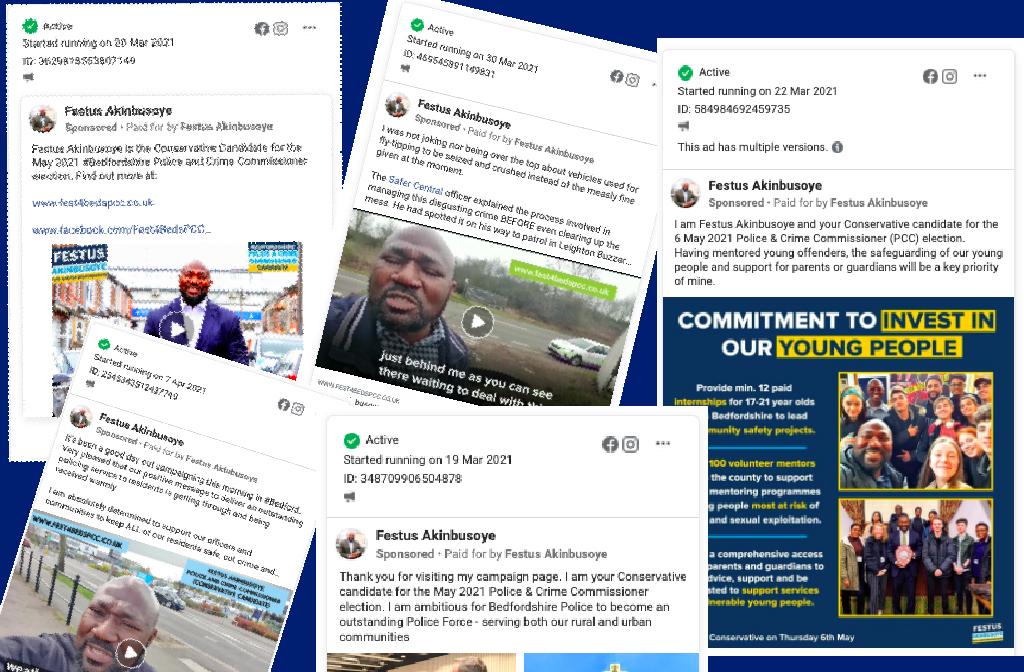 Festus Akinbusoye PCC candidate 2021 unpaused FB Ads