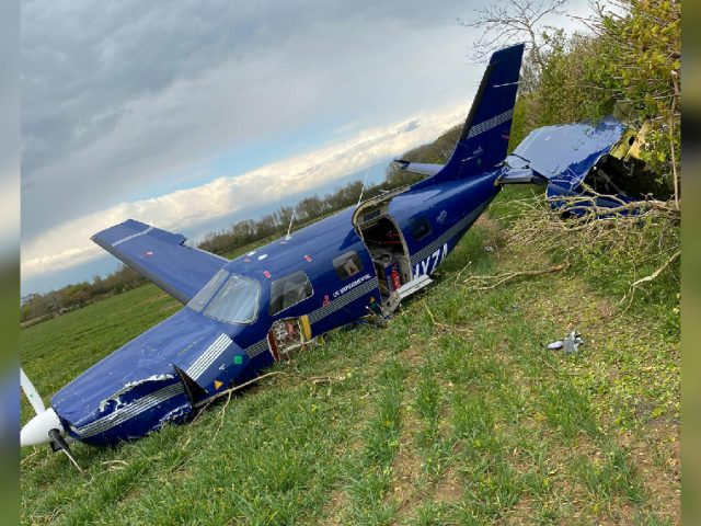 ZeroAvia's R&D aircraft crashed during a routine test flight just outside Cranfield airport. Image: Reader photo