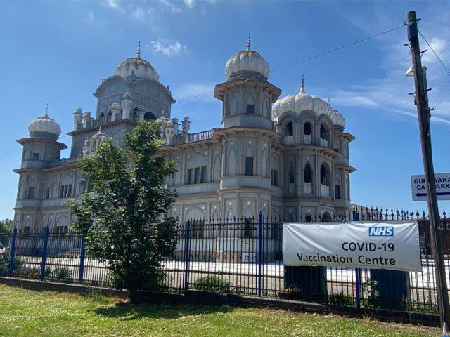 Guru Nanak Temple Queen's Park COVID-19 (coronavirus) vaccine centre