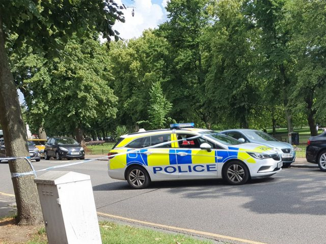 Embankment closed after suspected unexploded grenade found. Image: Lee Travers