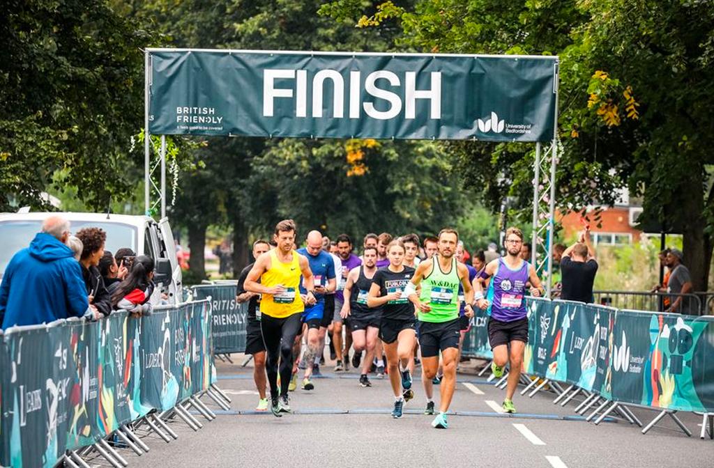 Bedford Running Festival finish line 3-5 sept 2021