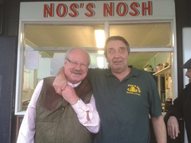 Neil 'Nos' Thomas (r), who has retired from the Scrum Bar Kitchen after 25 years. Image: Bedford Blues